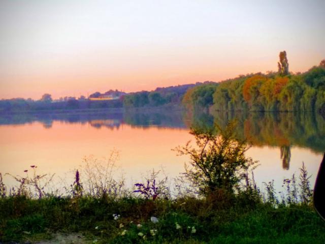 Закат на пруду под Городецким